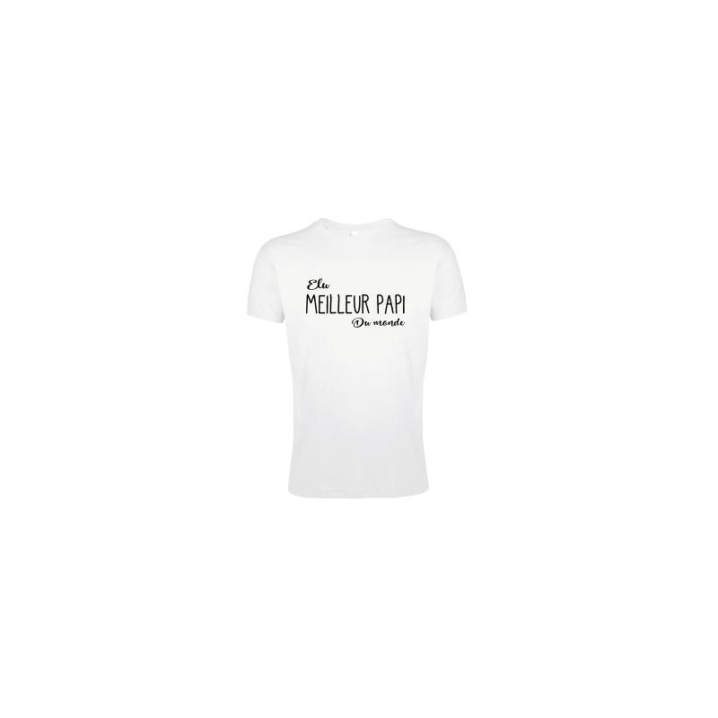 T-shirt Elu meilleure papi du monde