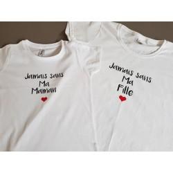 t-shirt mère/ fille