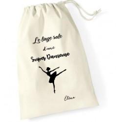 Sac à linge sale personnalisé danseuse