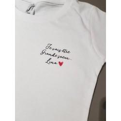 T-shirt personnalisé Je...