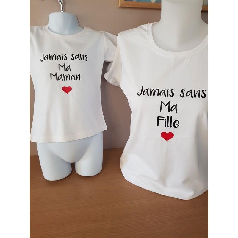 duo t-shirt maman et fille